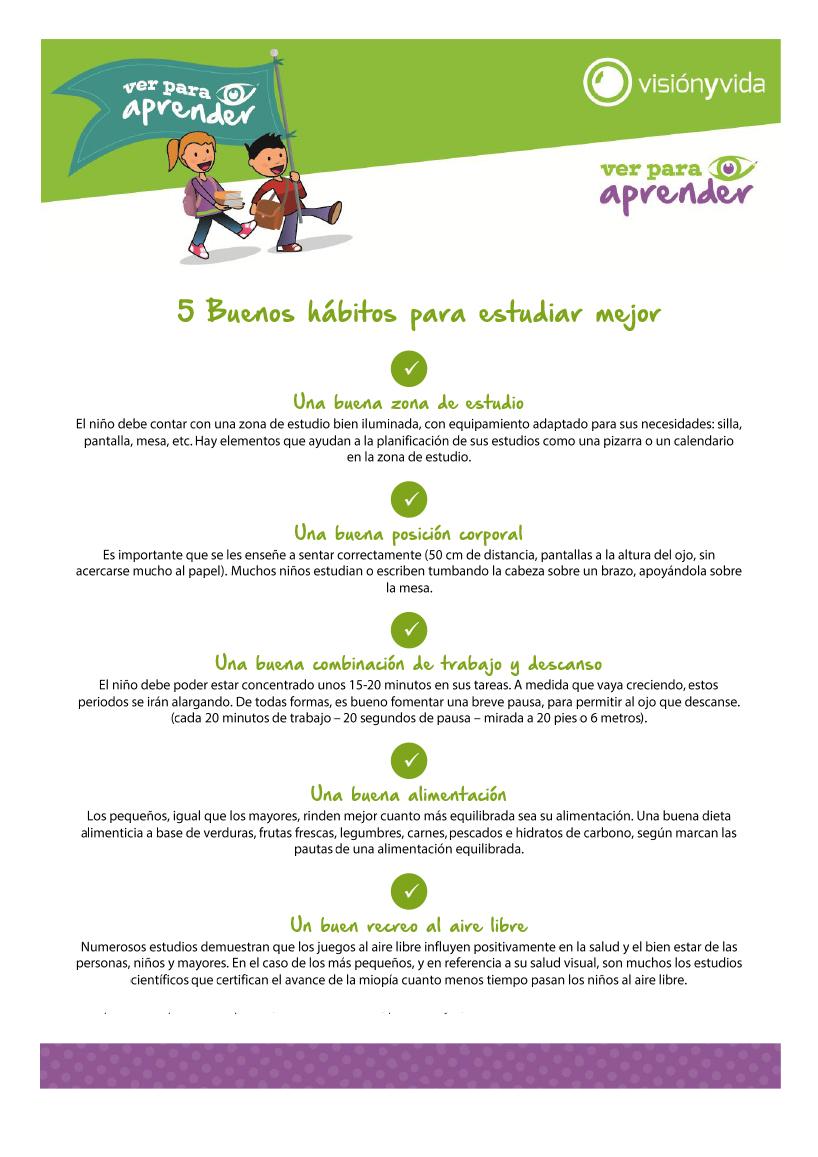 Buenos hábitos para estudiar mejor