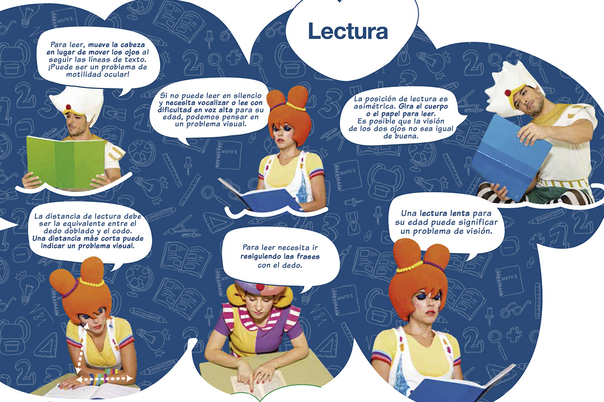 Fracaso escolar relacionado con un problema visual Lectura